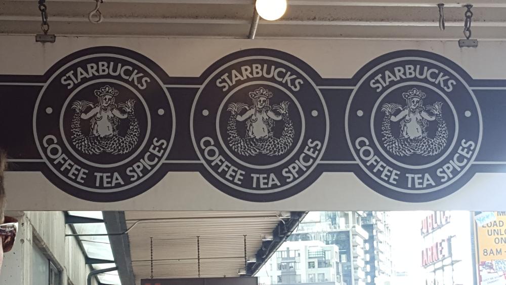 Original Starbucks Sign